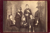 Women 1880s with athletic equipment
